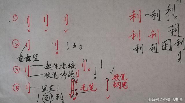 干货!收藏练字秘籍:精选50个最难写偏旁部首图解、技法、正误对照